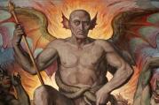 Joseph Anton Koch - Inferno (1825-28) [detail - Devil]