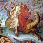 Joseph Anton Koch - Inferno (1825-28) [detail - Geryon]