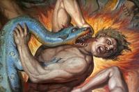 Joseph Anton Koch - Inferno (1825-28) [detail - Salamander]