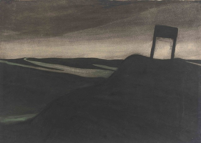 Léon Spilliaert - Landscape with Sign, Nocturne (circa 1907)