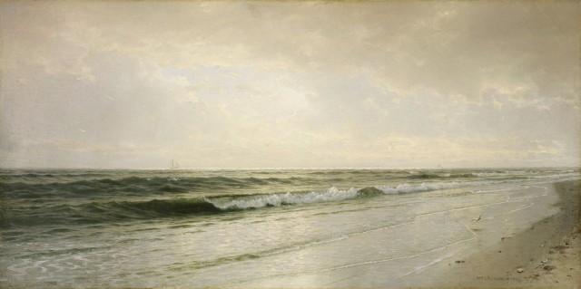 William Trost Richards - Quiet Seascape (1883)