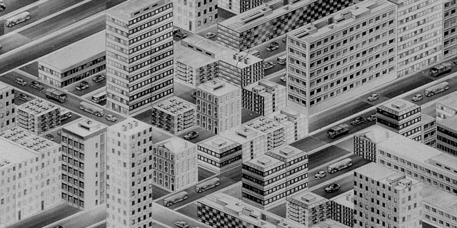 Thomas Bayrle - Stadt [City] (1977) detail
