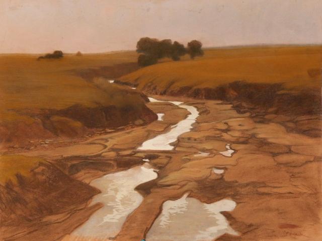 Giuseppe Pelizza da Volpedo - Landscape (1900)