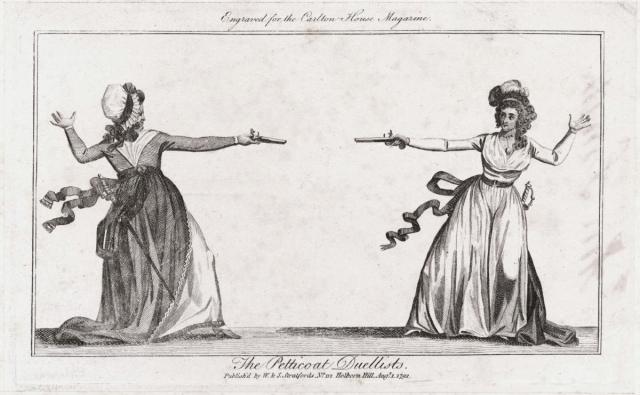 Petticoat Duellists - Carlton House Magazine (1792)