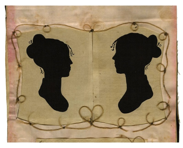 Silhouette of Charity Bryant and Sylvia Drake (c. 1805-1815)
