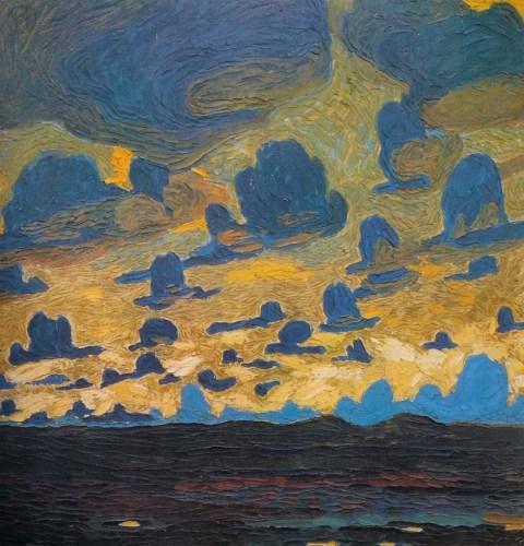 Wenzel Hablik - Sylt, Kampen, Dunkle Wolken, Watt (1907)