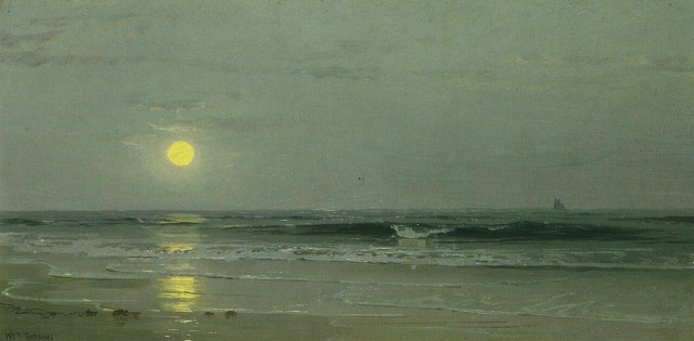 William Trost Richards - [Moonrise over the Beach]
