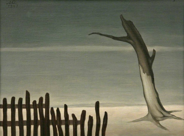 Albert Reuss - Fence and Tree (1948)