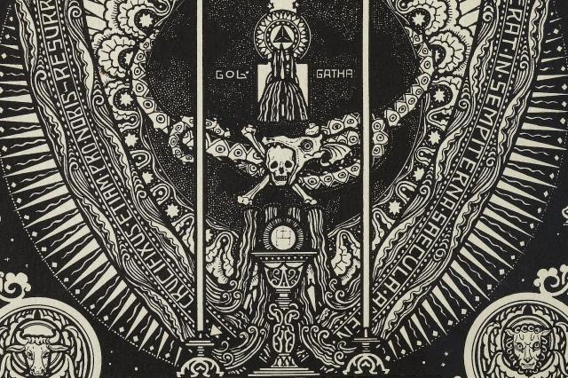 Melchior Lechter - Die vier Bücher von der Nachfolge Christi (1922) p 6 [detail]