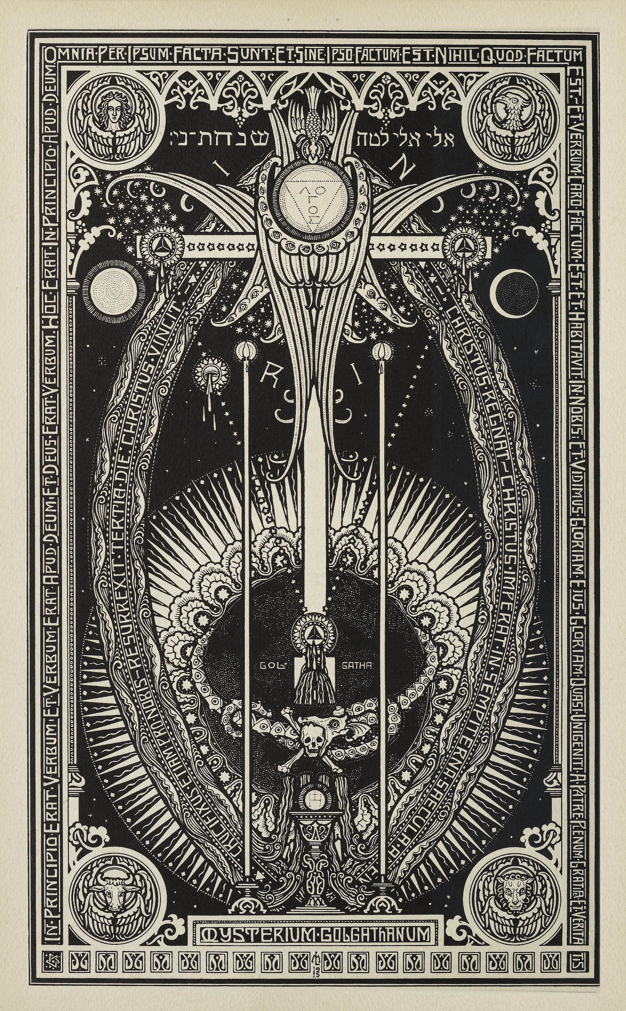 Melchior Lechter - Die vier Bücher von der Nachfolge Christi (1922) p 6