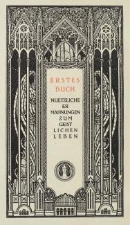 Melchior Lechter - Die vier Bücher von der Nachfolge Christi (1922) p 8