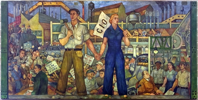 Walter Speck and Barbara Wilson - UAW Local 174 Mural (1937)