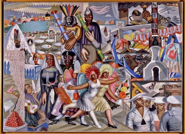 Maruja Mallo - La Verbena [The Festival] (1927)