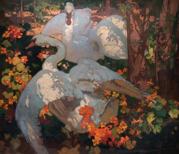 Frank William Brangwyn - The Swans (1921)