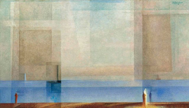 Lyonel Feininger - Calm at Sea II (1927)
