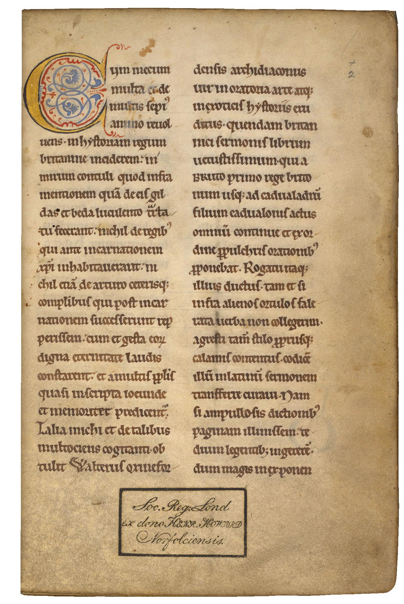 Geoffrey of Monmouth - Historia Regum Britanniae (4th quarter of the 12th century)
