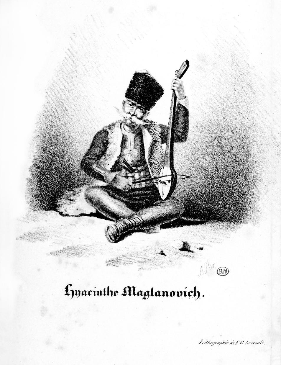 Gravure en tête de l'ouvrage -La Guzla- de Prosper Mérimée, 1827
