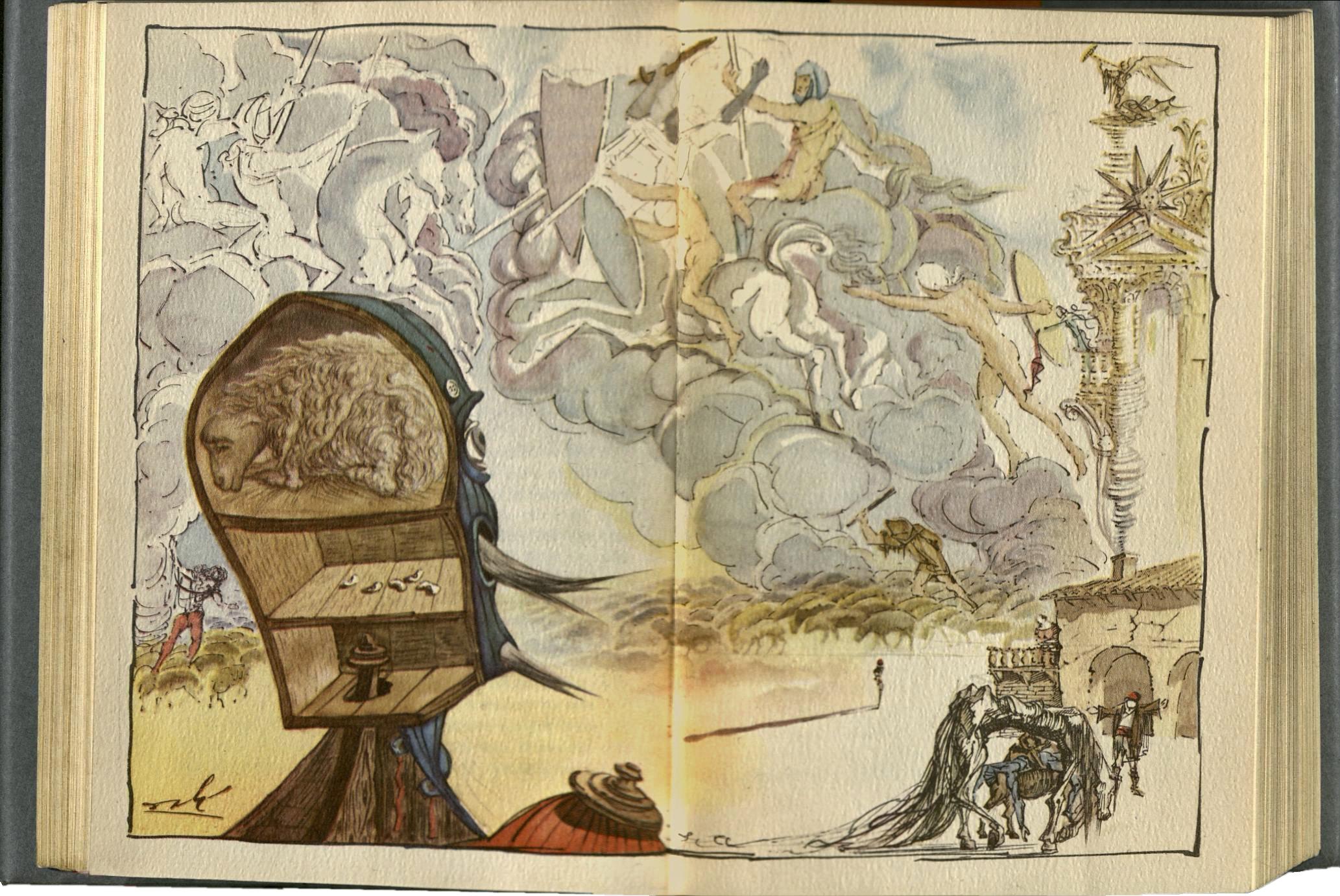 Salvador Dalí - Illustration for Don Quixote (1946)