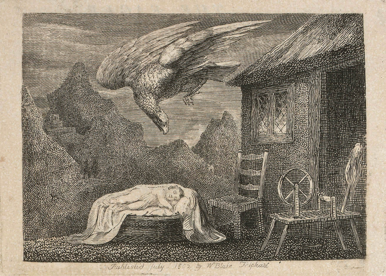 William Blake - Headpiece to The Eagle, Ballad the Second (William Hayley's Ballads. Founded on Anecdotes Relating to Animals) (1802)