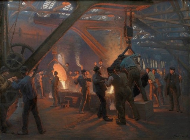 P. S. Krøyer - The Iron Foundry, Burmeister and Wain (1885)