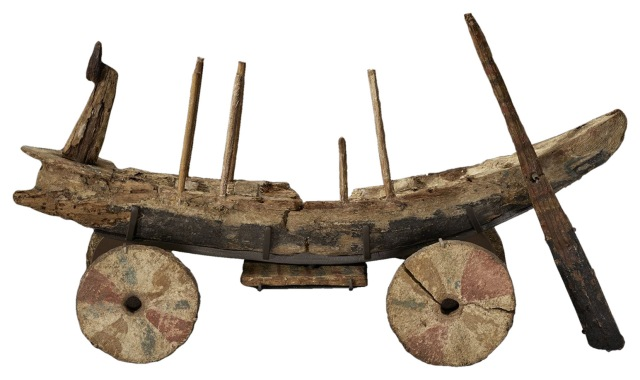 Gurob Ship-Cart Model (Egypt, New Kingdom, c 1250-1150 BC)