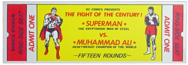 Superman vs Muhammad Ali Promotional Ticket (1978)