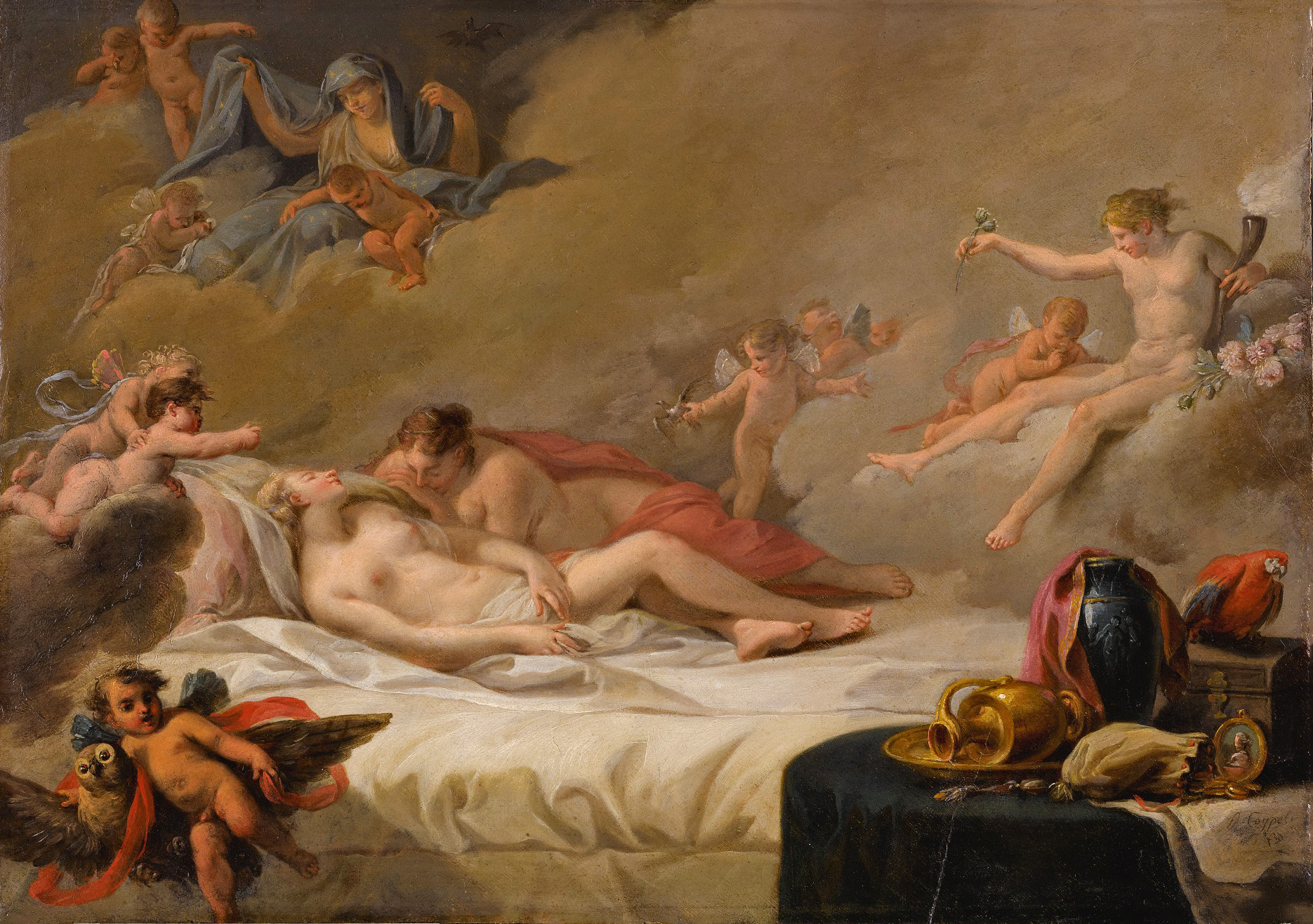 French School - An Allegory of Sleep (mid 18th century)
