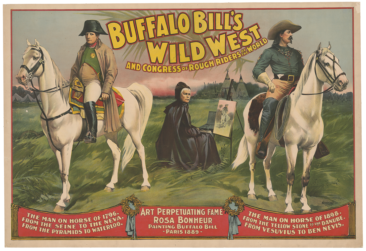 Buffalo Bill's Wild West and Congress of Rough Riders of the World - Courier Litho. Co., Buffalo, N.Y. (c 1896) small