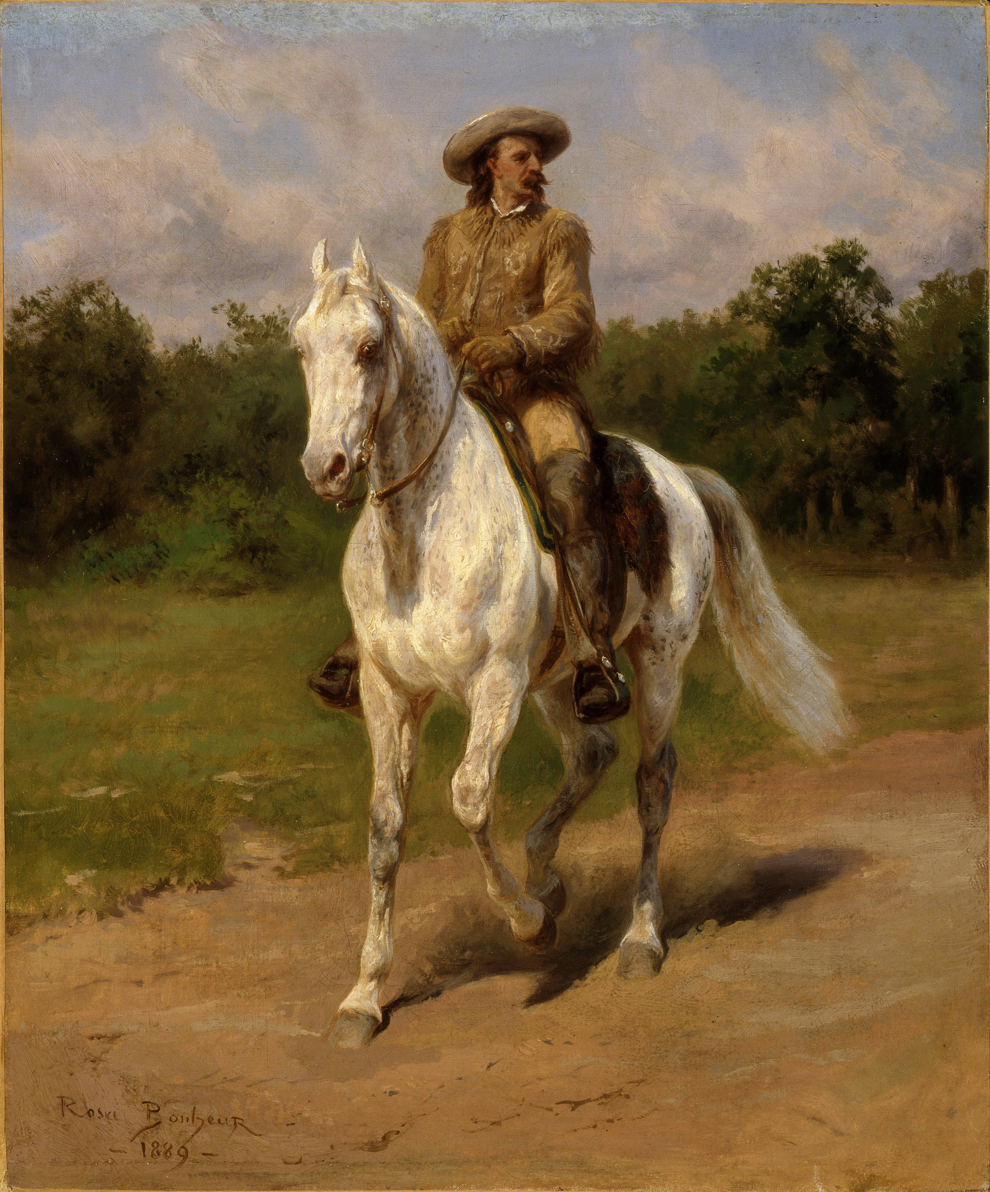 Rosa Bonheur - Col. William F. Cody (Buffalo Bill)(1889)