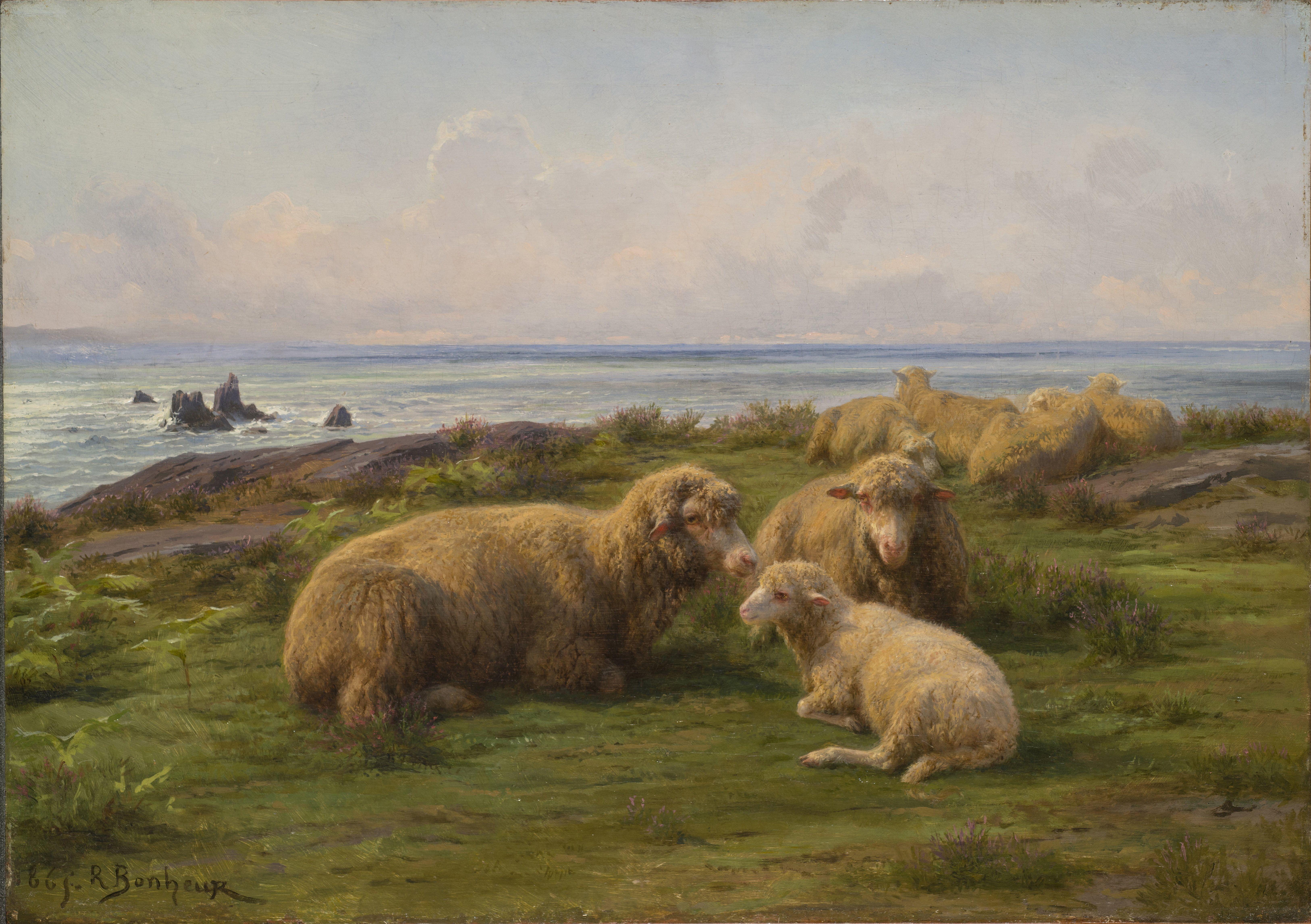 Rosa Bonheur - Moutons au bord de la Mer (1865)