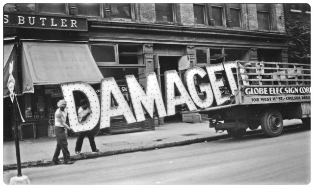 Walker Evans - [Workers Loading Neon _Damaged_ Sign into Truck, West Eleventh Street, New York City] (1928-1930)