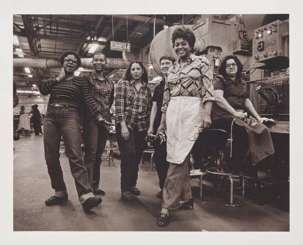 Russ Marshall - Press Operators, GM Fisher Body Trim Plant, Fort Street, Detroit, Michigan (1982, printed 1997)