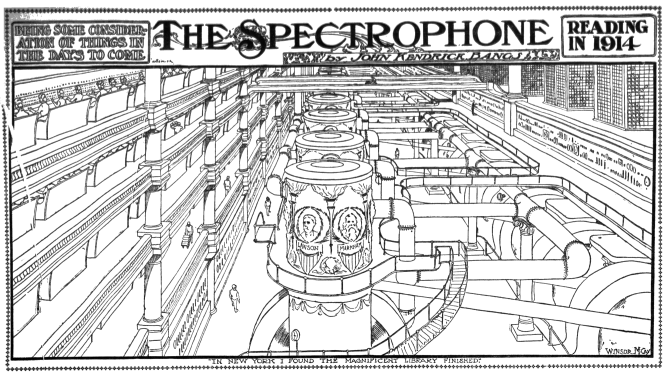 Winsor McCay - The Spectrophone - Reading in 1914 (Los Angeles Herald, Feb 26, 1906)