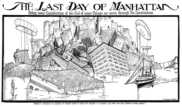 Winsor McCay - The Spectrophone - The Last Day of Manhattan (New York Herald, Feb 26, 1905)