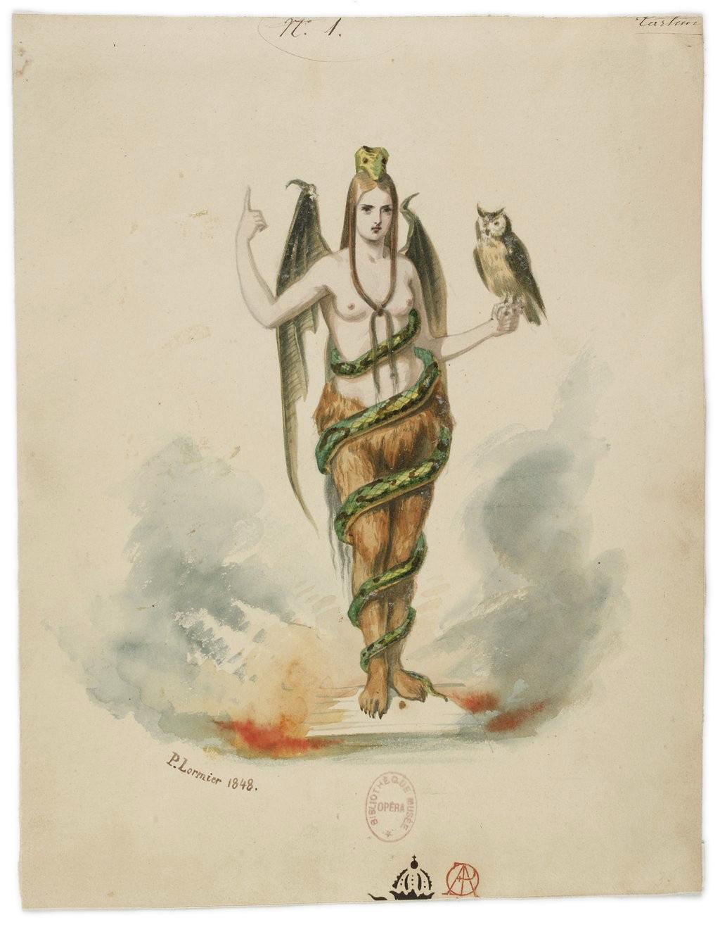 Paul Lormier - costume desig for Le violon du diable (1848)