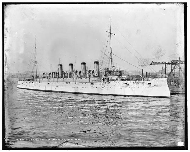 USS Columbia, Brooklyn Naval Yard (1904)